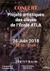 Concert des projets artistiques des élèves d'ATLA